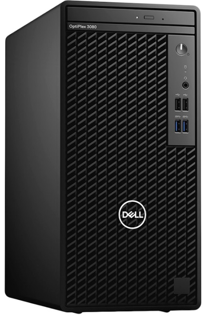 DellOptiPlex3080MT(Corei5-10500,8GB,256GBSSD,Integrated,DVDRW,Kb,Mouse,260W,Ubuntu)
